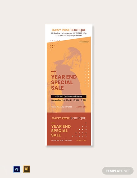 Blank Sale Ticket Template
