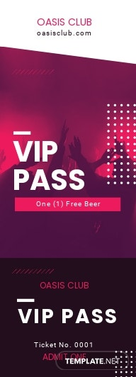 Blank VIP Ticket Template