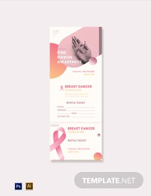 Breast Cancer Raffle Ticket Template
