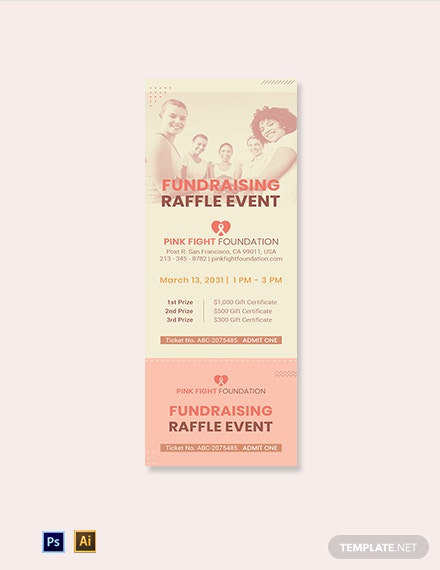Cancer Raffle Ticket Template
