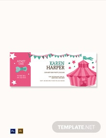 Carnival Birthday Ticket Template
