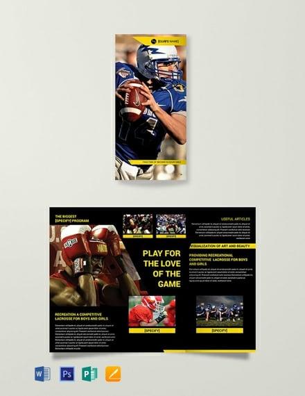 Free Sports Tri-Fold Brochure Template