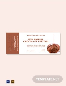 Chocolate Event Food Ticket Template