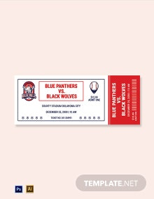 Christmas Baseball Ticket Template