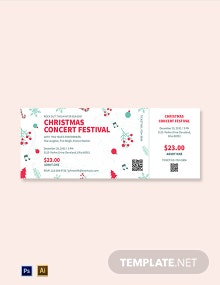 Christmas Concert Ticket Template