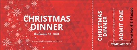 Christmas Dinner Ticket Template
