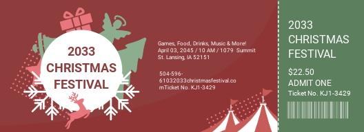Christmas Festival Ticket Template.jpe