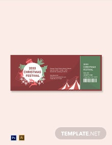 Christmas Festival Ticket Template