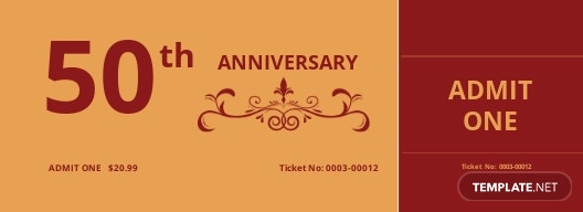 Church Anniversary Ticket Template