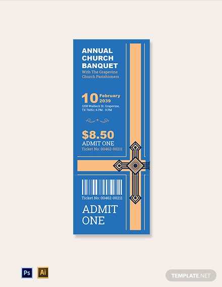 Annual Church Banquet Ticket Template