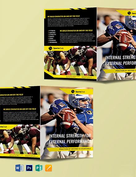 Free Sports Bi-Fold Brochure Template