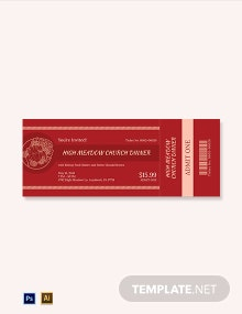 Church Dinner Ticket Template