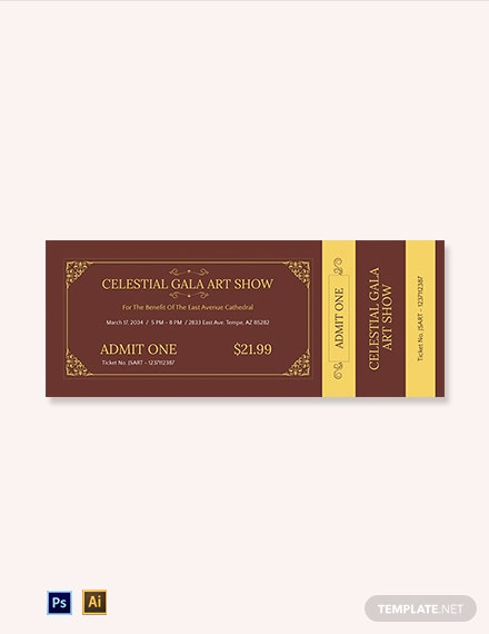 Church Fundraising Ticket Template