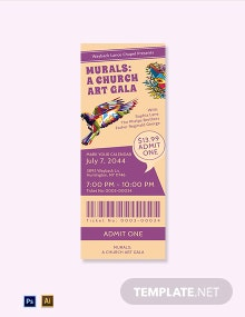 Church Gala Ticket Template