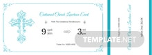Church Luncheon Ticket Template