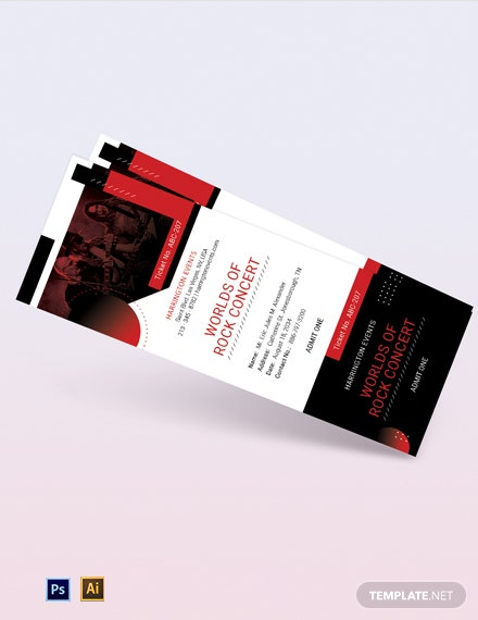 Concert Sale Ticket Template