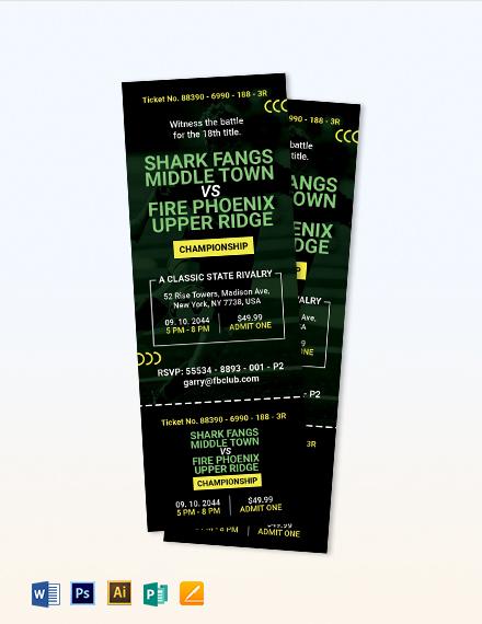 Free Printable Soccer Ticket Invitation Template