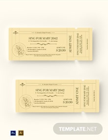 Free Vintage Church Ticket Template
