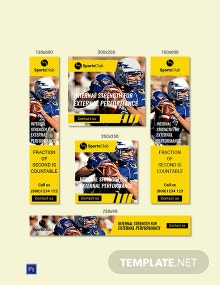 Free Sports Ad Banner Template