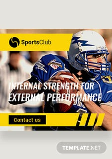 Sports Ad Banner Template