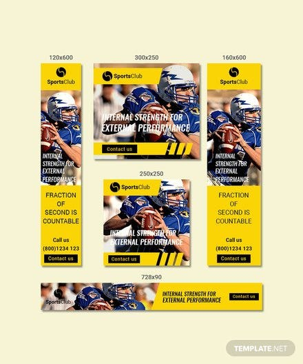 Sports Ad Banners Templates In Adobe Photoshop Templatenet - Sports banner templates