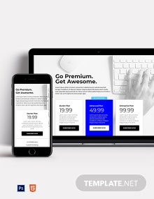 Corporate SaaS Pricing Page Template