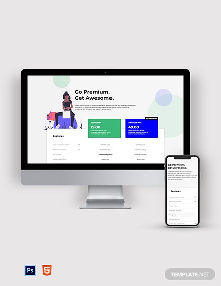 Flat Design SaaS Pricing Page Template
