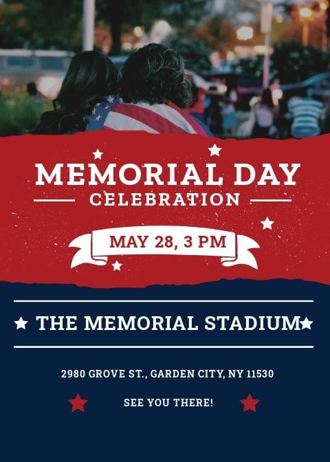 Free Memorial Day Invitation Template.jpe