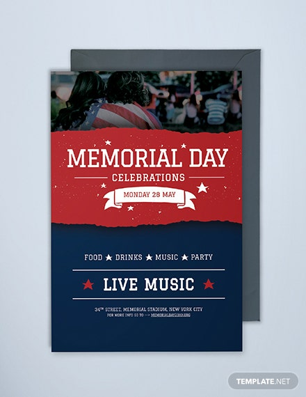Free Memorial Day Invitation Template
