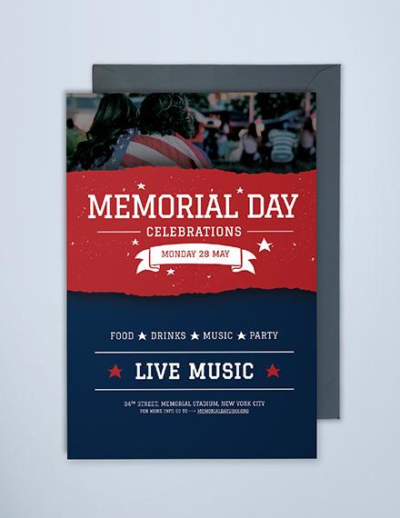 Free Memorial Day Invitation Template