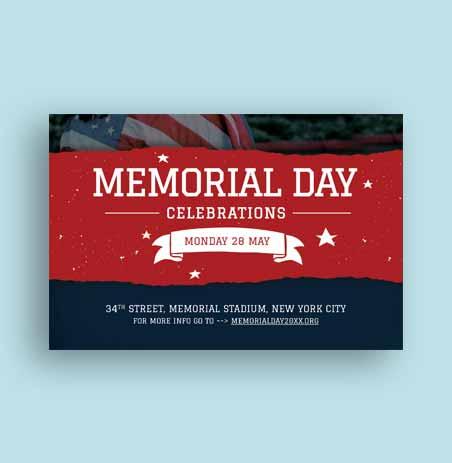 Memorial Day Invitation Template