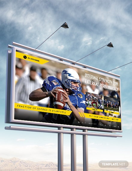 Free Sports Billboard Banner Template