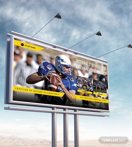 Sports Billboard Banner Template