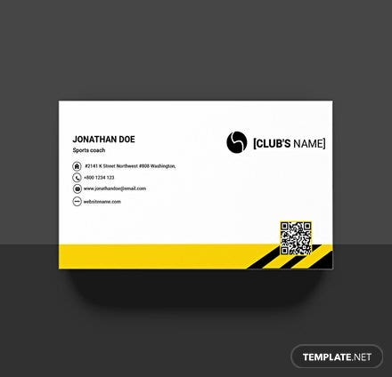 Sports Business Card Template