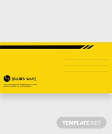 Sports Envelope Template