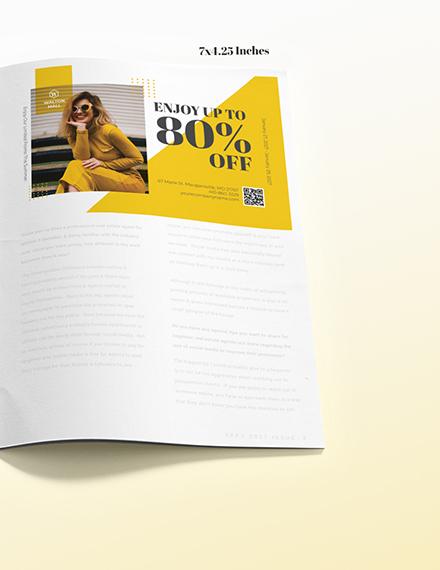 Minimal Magazine Ads Example