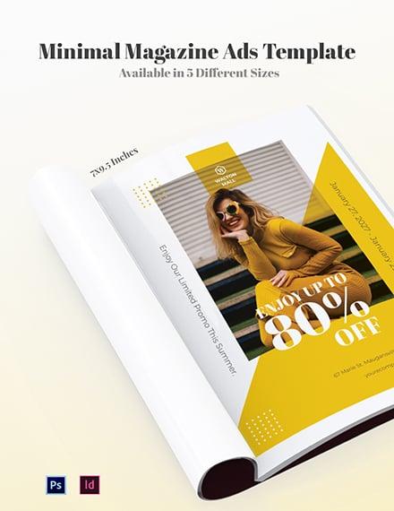Free Minimal Magazine Ads Template
