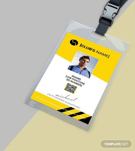 Sports Identity Card Template