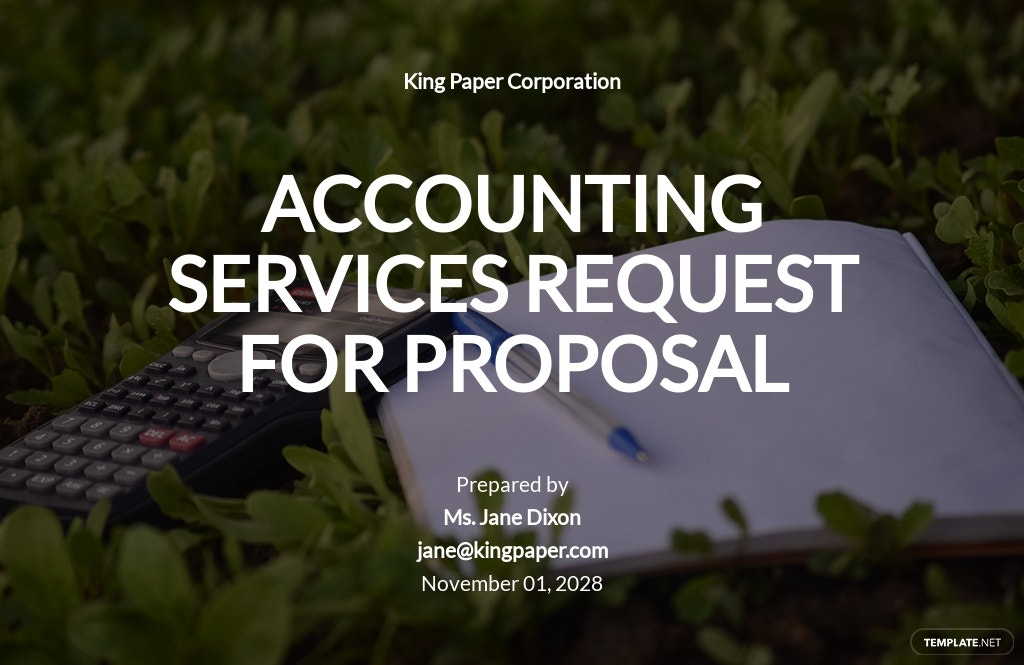 Accounting Services Request for Proposal Template
