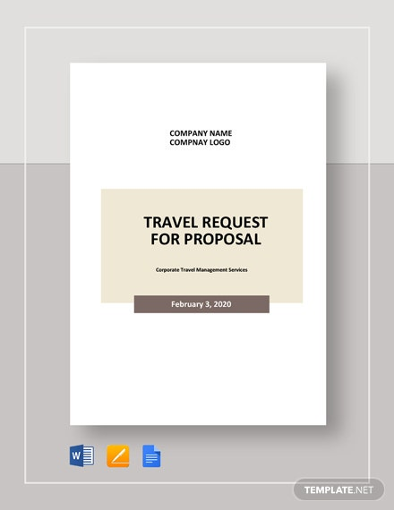 Travel Request for Proposal Template