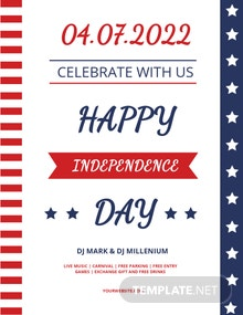 Free Happy Independence Day Flyer Template