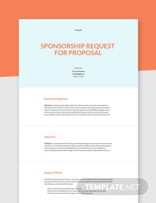Sponsorship Request for Proposal Template