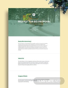 Request for Bid Proposal Template