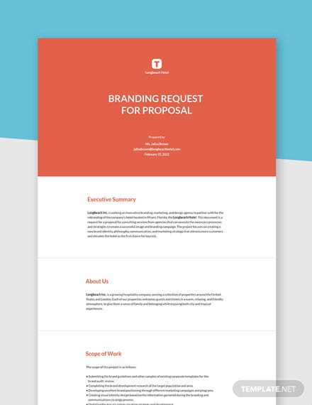 Branding Request for Proposal Template