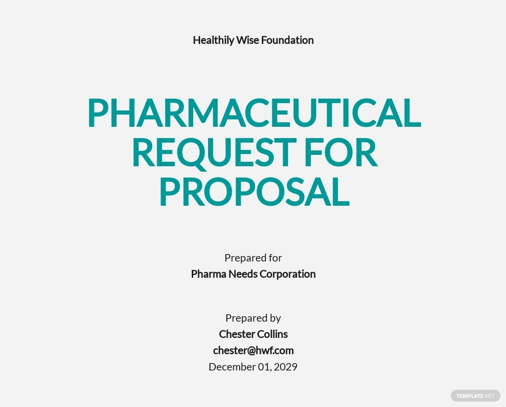 Pharmaceutical Request for Proposal Template