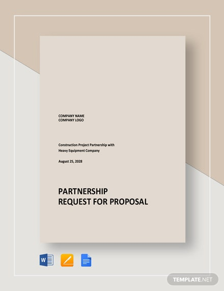Partnership Request for Proposal Template