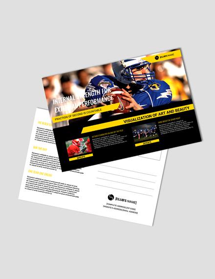 Free Sports Postcard Template