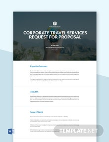 Business Request for Proposal Template