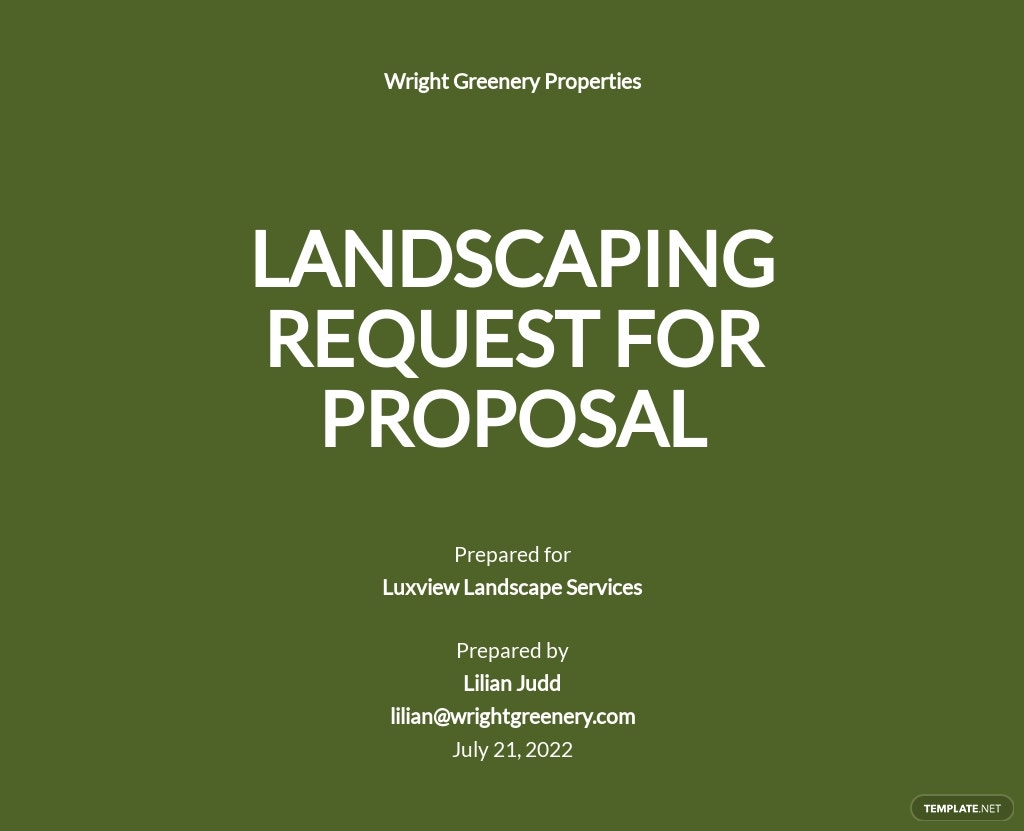 Landscaping Request for Proposal Template