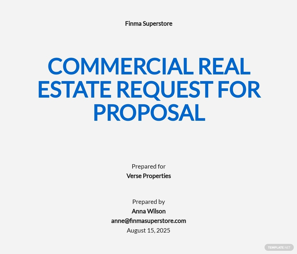 Commercial Real Estate Request for Proposal Template